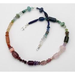 Chakra-Kette aus verschiedenen Edelsteinen in 46 cm Länge