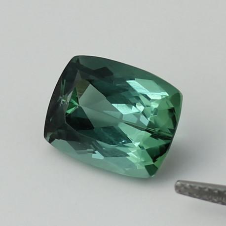 Turmalin grün-blau facettiert Antik-Schliff 5,45 Karat-Edelsteine