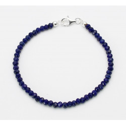 Lapislazuli Armband blaue facettierte Lapis Rondelle 19,5 cm