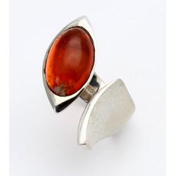 Feueropal-Ring in 925er Silber Ringgröße 56
