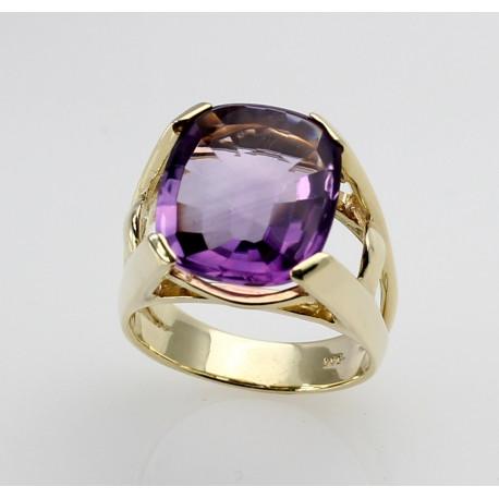 585er Goldring mit Amethyst Ringgröße 54-Gold-Ringe