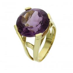 Amethyst Ring in 585er Gelbgold 13,27 ct Ringgröße 54