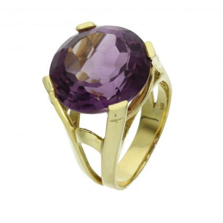 Amethyst Ring in 585er Gelbgold 13,27 ct Ringgröße 54-Gold-Ringe