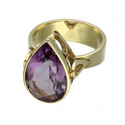 Amethyst Ring in 585er Gelbgold 8 Ringgröße 54-Gold-Ringe