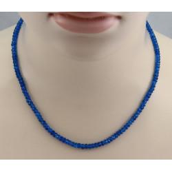Apatitkette neonblau facettiert in 46 cm Länge