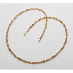 Imprial-Topaskette facettiert goldgelb natur 52,5 cm lang