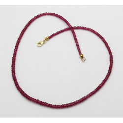 Turmalinkette rot facettiert Rubellit 41,5 cm lang