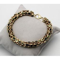 Turmalin-Armband in 585er Gelbgold 22 cm lang