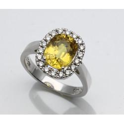 Saphir-Ring in 750er WG mit Brillanten 3,57 ct Ringgröße 54-Gold-Ringe