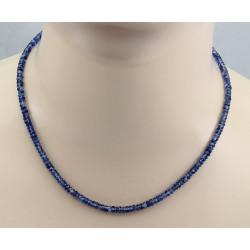 Kyanit Kette blau facettiert in 45,5 cm Länge