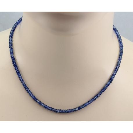 Kyanit Kette blau facettiert in 45,5 cm Länge-Edelsteinketten