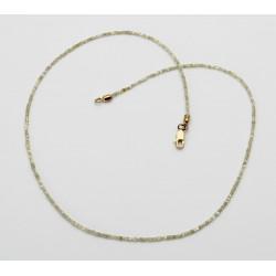 Diamant-Kette feine Diamant Würfel in hellem beige 43 cm lang