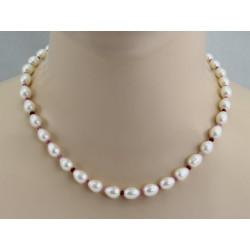 Süßwasser-Perlenkette mit Rosa Saphir und Rubin 46 cm lang-Perlenketten