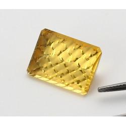 Goldberyll Achteck im Fancy-Schliff 9,98 Karat - Einzelstück-Edelsteine