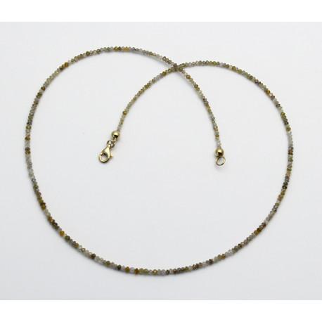 Diamant-Kette facettiert multicolour natur 44,5 cm lang-Edelsteinketten
