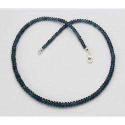 Kyanit Kette Cyanit Disthen Rondelle in blaugrün 45 cm lang-Edelsteinketten