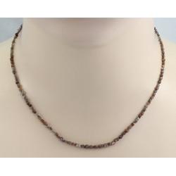 Diamant Kette - braune Roh-Diamanten Halskette in 42,5 cm Länge
