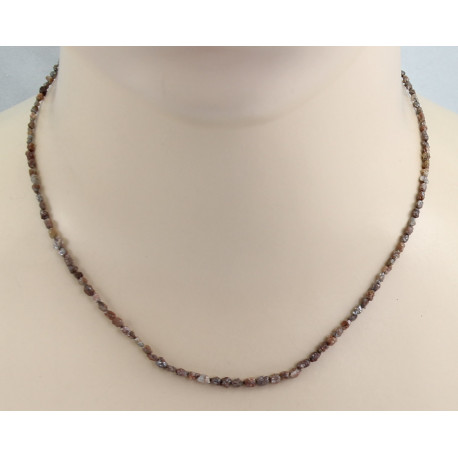 Diamant Kette - braune Roh-Diamanten Halskette in 42,5 cm Länge-Edelsteinketten