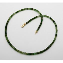 Turmalin Kette facettiert - grüne Chrom-Turmaline als Halskette 46 cm