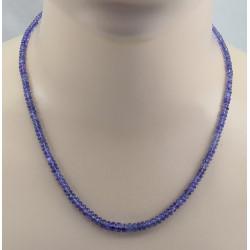 Tansanit Kette veilchenblaue Tansanit Rondelle als Halskette 49,5 cm lang-Edelsteinketten