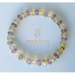 Armband: Lemoncitrin & Amethyst-Edelstein-Armbänder