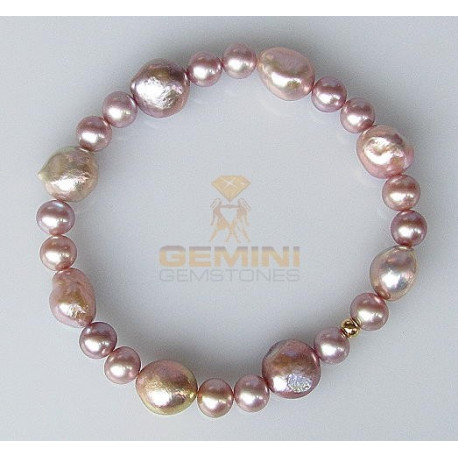 Perlen Armband, Lachs XXL-Perlen-Armbänder