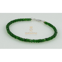 Grünes Chromdiopsid Armband - facettierte Chromdiopside