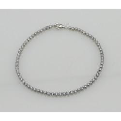 Tennis Armband, 925 Silber mit echten Zirkon, 18,5 cm