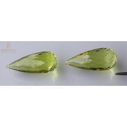Lemon Citrin Briolettes aus Brasilien 51,18 Karat