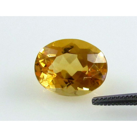 Citrin facettiert, Citrin oval, 10,69 Karat-Edelsteine