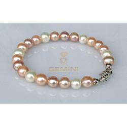 Süßwasserperlen-Armband multicolour 19 cm-Perlenschmuck