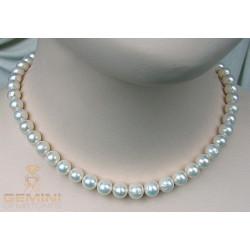 Perlenkette, weiße Perlen