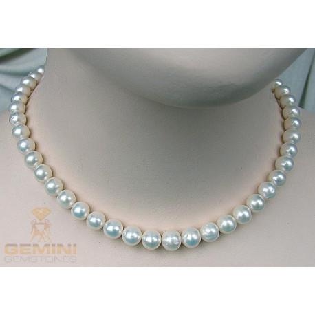 Perlenkette, weiße Perlen-Perlenschmuck