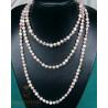Perlenkette, Süßwasserperlen, geknotet, 160cm endlos-Perlenketten