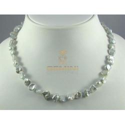 Perlenkette, Keshi-Perlen mit Zirkon
