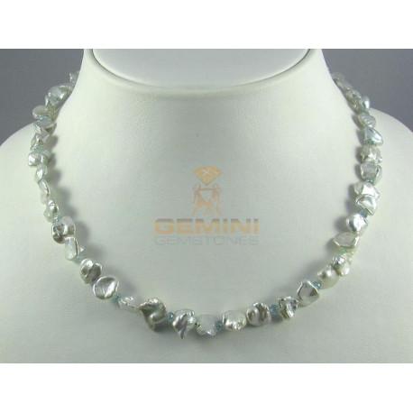 Perlenkette, Keshi-Perlen mit Zirkon-Perlenketten