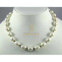 Perlenkette, Zuchtperlen mit Iolith