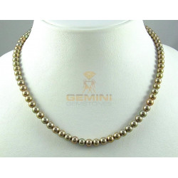 Perlenkette, Süßwasserperlen gold
