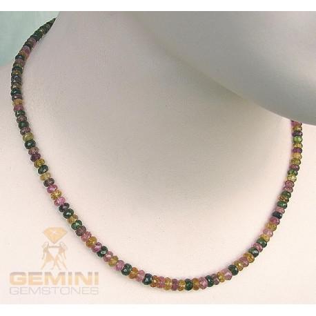 Turmalin Kette multicolour facettiert 45,5 cm-Edelsteinketten