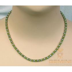 Peridotkette - facettierter Peridot mit Perlen