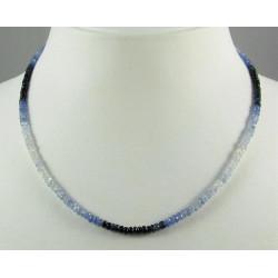 Saphir Kette blau weiße Saphire Halskette für Damen