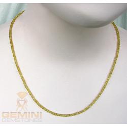 Saphirkette - gelber Saphir facettiert Halskette 51 cm