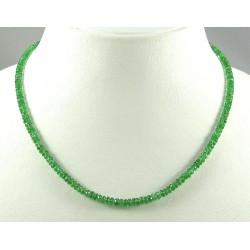 Tsavorit Kette grüne Granat Kette, facettierte Tsavorit-Granat Halskette 46 cm