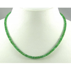 Tsavorit-Kette - grüner Granat facettiert in 46 cm Länge