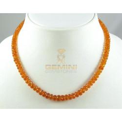 Mandarin-Granat Kette facettierte Spessartin-Granat Halskette für Damen