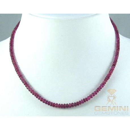 Rubellit Kette - rosarote Turmaline in Rondellform 43 cm lang-Edelsteinketten