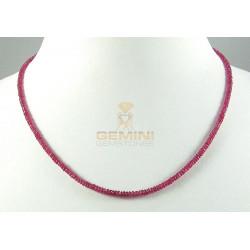 Rubin Kette - facettierte Rubin Halskette für Damen 37 Karat